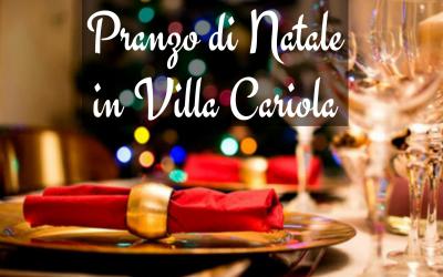 Pranzo di Natale in Villa Cariola